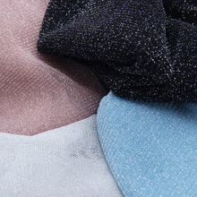 Women's Super Sheer Mesh Glitter Top