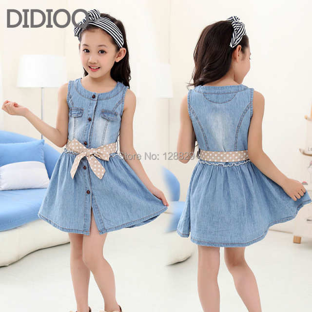 2e194d7f4c5b placeholder Teenage Girls Dresses Summer Style Sleeveless Denim Dress for Girls  Clothing Teens Sundress kids clothes 2