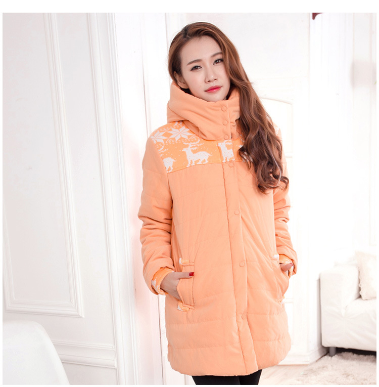 ФОТО Plus Size Maternity Winter Coats 2016 Loose Cotton Wadded Coat For Maternity 5 Colors High Quality Maternity Jackets E529