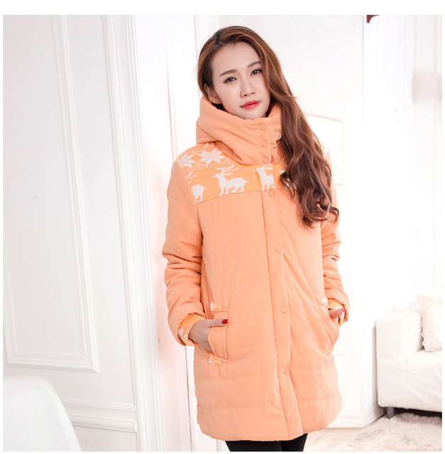 Plus Size Maternity Winter Coats 2016 Loose Cotton Wadded Coat For Maternity 5 Colors High Quality Maternity Jackets E529