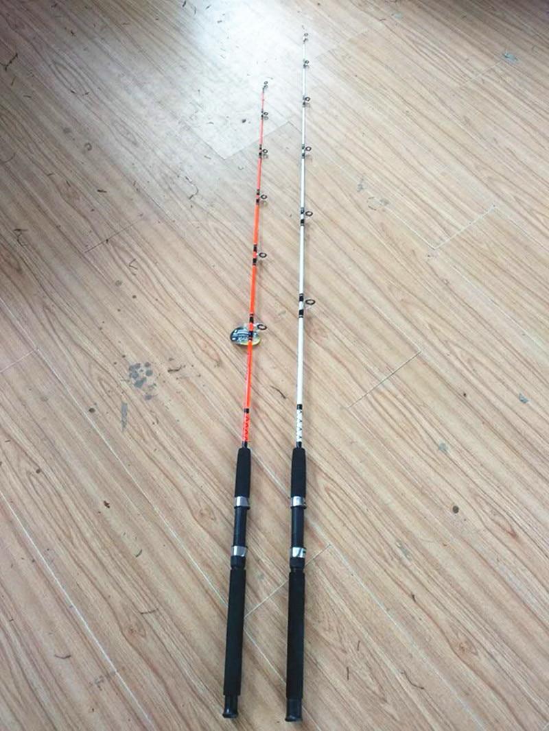 Orange color solid fiberglass fishing rod in fishing for Fiberglass fishing rods