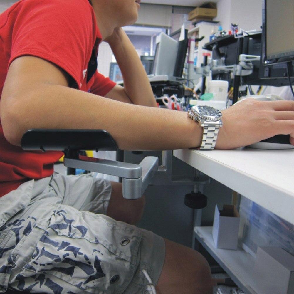 Más ergonómico computadora reposabrazos ajustable brazo muñeca Resto de apoyo de la Oficina para el hogar ratón mano soporte EM88