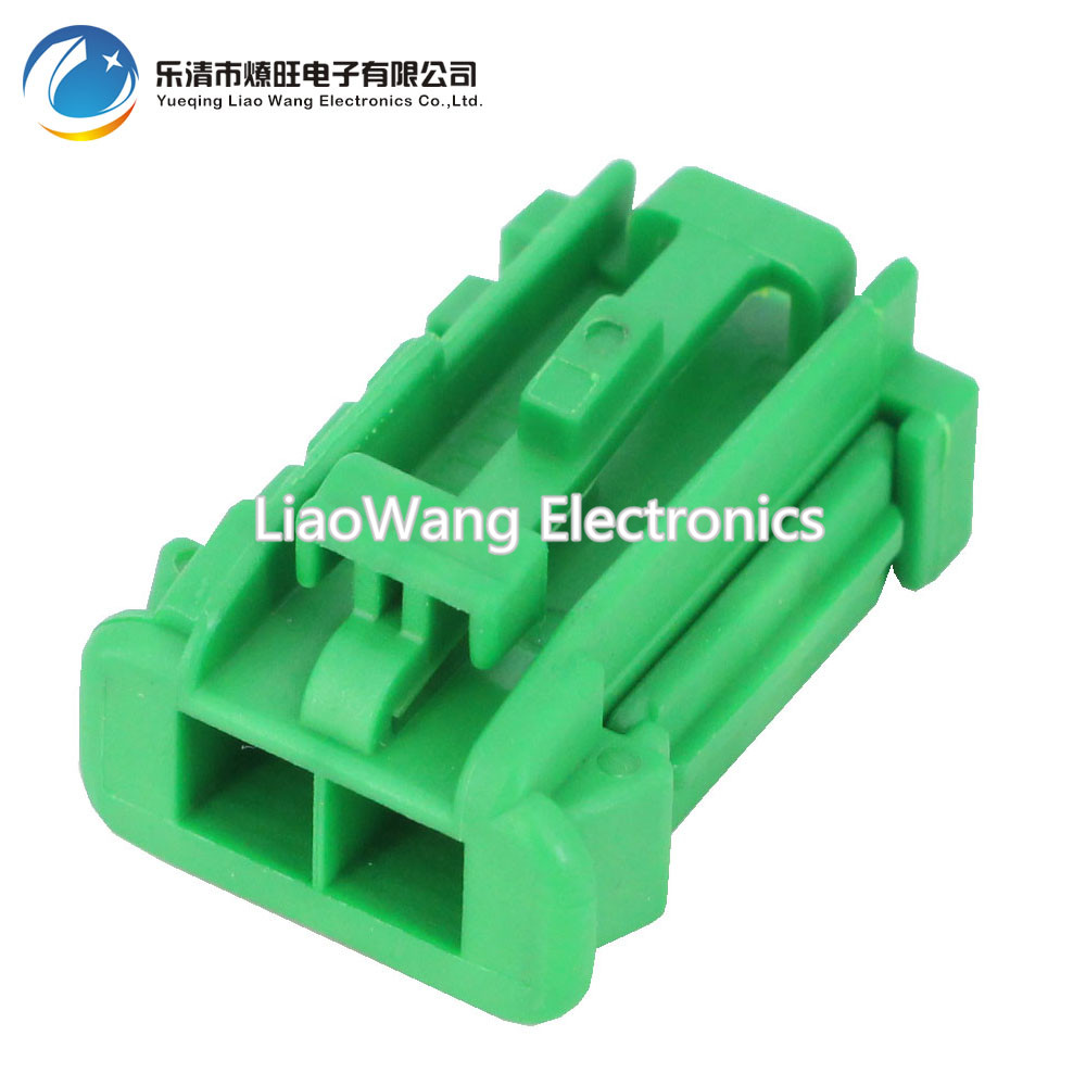 2 pin electronic fan plug black green random plastic connector automotive plug with terminal DJ7028K 2 8 21 2P in Connectors from Lights Lighting