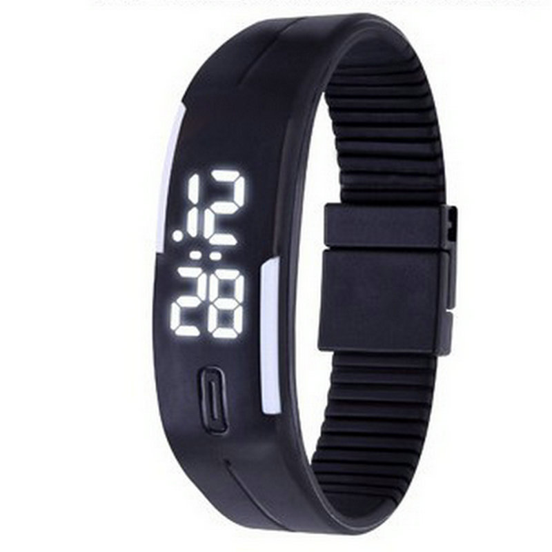 Independent Fashion Wrist Band Digital Sport Watch Women Ladies Led Wristband Student Waterproof Running Electronic Wristwatch 100pcs/lot Watches