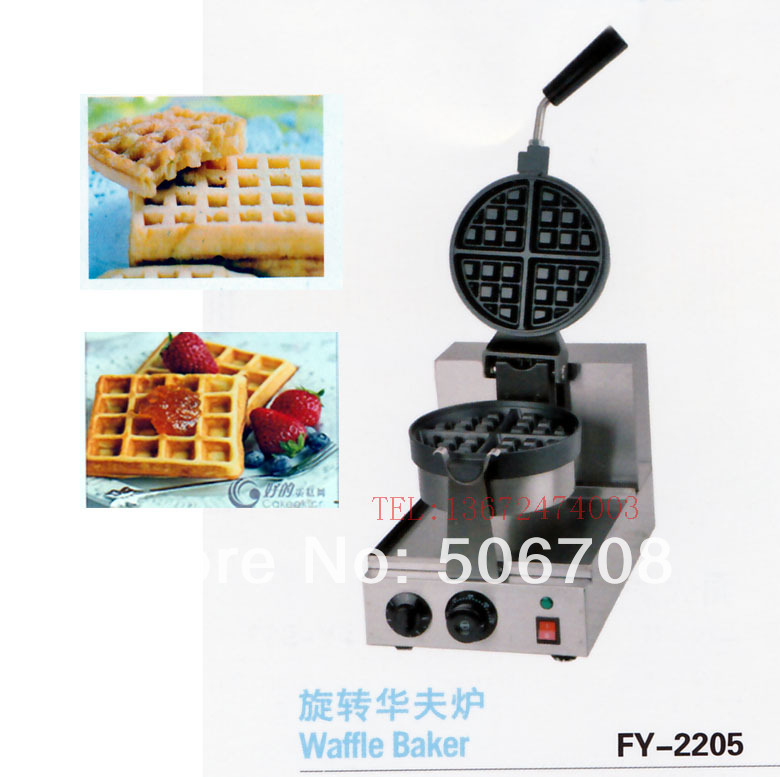 Free shipping~electric with recipe for waffle machine, can 180 rotating 4 pcs free shipping 6 pcs dounts making machine with recipe waffle grill