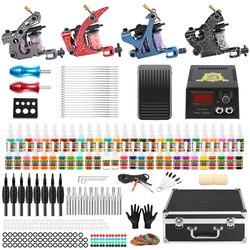 Solong Tattoo Профессиональный Полный Набор татуировок для начинающих 4 Pro машина 54 набор чернил иглы блок питания ручка чехол для переноски TK456