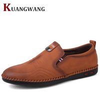 2018 Men Shoes Luxury Brand Leather Casual Driving Oxfords Shoes Men Loafers Moccasins Italian Shoes For