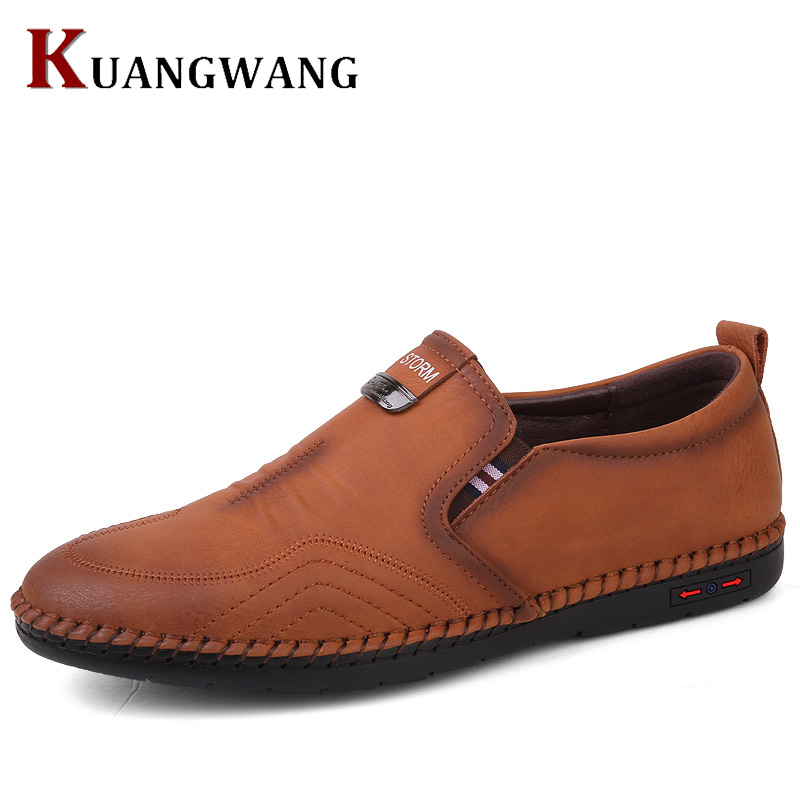 2018 Men Shoes Luxury Brand Leather Casual Driving Oxfords Shoes Men Loafers Moccasins Italian Shoes For Men Flats split leather dot men casual shoes moccasins soft bottom brand designer footwear flats loafers comfortable driving shoes rmc 395