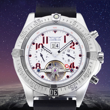 Classic Jargar Tourbillon Men Watches Auto Day/Calendar Week Dispay Sports Military Mechanical Watch Casual Wristwatch