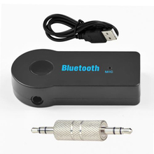 Audio Stereo Adapter Receiver for Car 3.5mm AUX Home Speaker MP3 for Car Music Sound System Hands Free Calling Built-in Mic