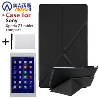 For Sony Xperia Z3 Compact 8 Inch Tablet Cover Case Magnetic Smart PU Leather Case Screen