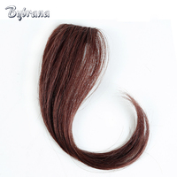 Bybrana Remy Hair 4 Colors Clip In Human Hair Bangs 25cm And 30cm Brazilian Hair For