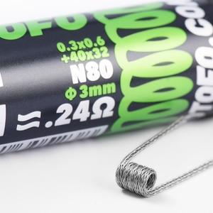 Image 2 - מקורי wotofo N80 מוכנים מראש סלילי חימום חוט צינור סט התמזגו קלפטון Dual/Quad/Tri Core Juggernaut ממוסגר מצרך 10 pcs/צינור
