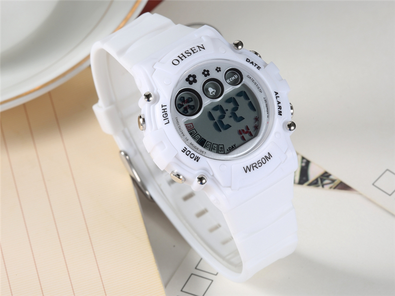 New Ohsen Unisex Watch Fashion Casual Watches Relogio Masculino Students Sports For Men Women Water Resistant Alarm Wristwatches (25)