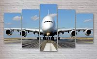 5 Pieces Printed Movie Airplane Portrait Satues Painting On Canvas Room Poster US Picture Canvas Framed