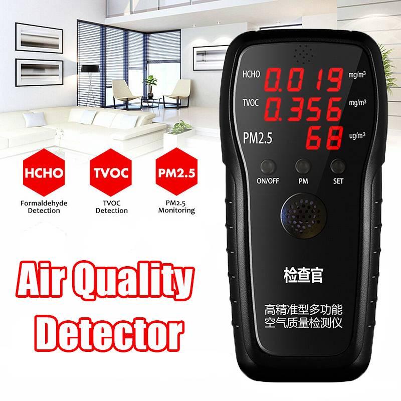 LCD Digital Formaldehyde Detector Multifunctional Gas Analyzer Air Quality HCHO TVOC PM1.0 PM2.5 PM10 Monitor for Household CarLCD Digital Formaldehyde Detector Multifunctional Gas Analyzer Air Quality HCHO TVOC PM1.0 PM2.5 PM10 Monitor for Household Car