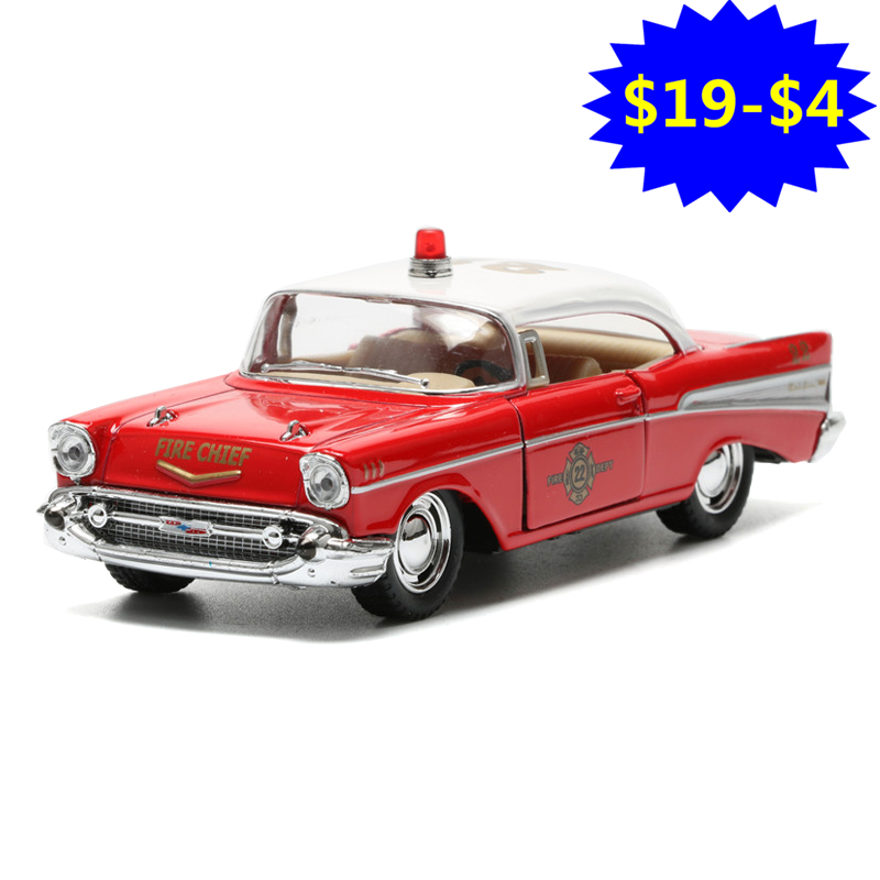 1:40 Fire Chief Car Toy Die cast & ABS Police Cars Model Collectible Vintage Car For Boys Kids Toys Brinquedos Gift