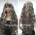 Wholesale price FREE SHIPPING ^^^^-New Sexy Light Chestnut Brown Mix Blonde WOMEN'S FULL WIG