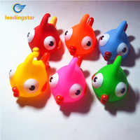 LeadingStar 6 Pcs Baby Bath Toy Clownfish Colorful Squeaky Little Fish Bathing Toys Gift Soft Rubber for Boys and Girls zk30