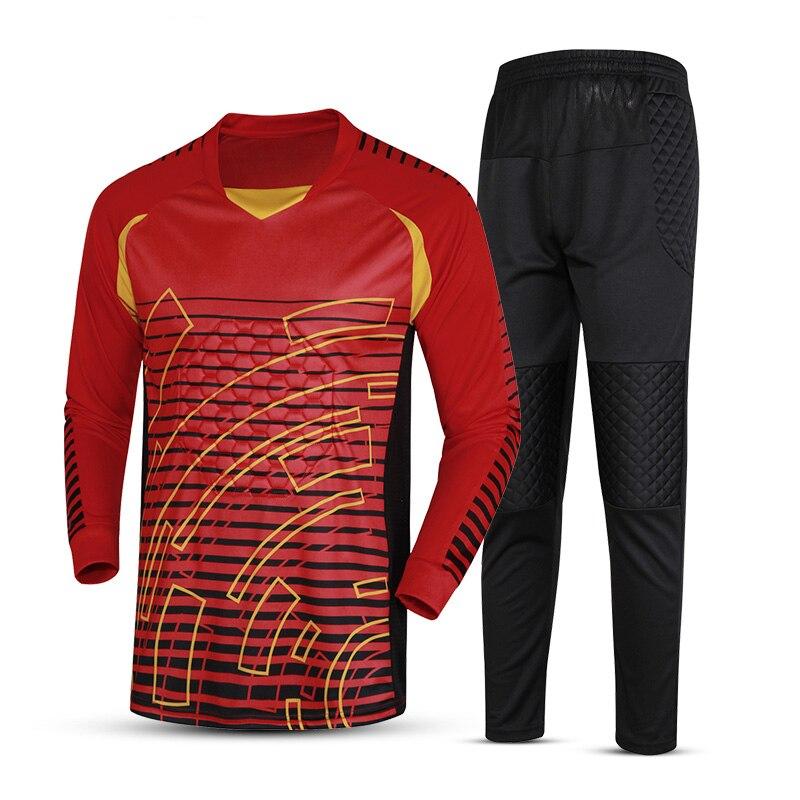 d60cb2d569 Aliexpress.com  Comprar Camiseta de portero de fútbol de marca para hombre  juego de fútbol 2018 19 uniformes de portero traje pantalones de  entrenamiento de ...