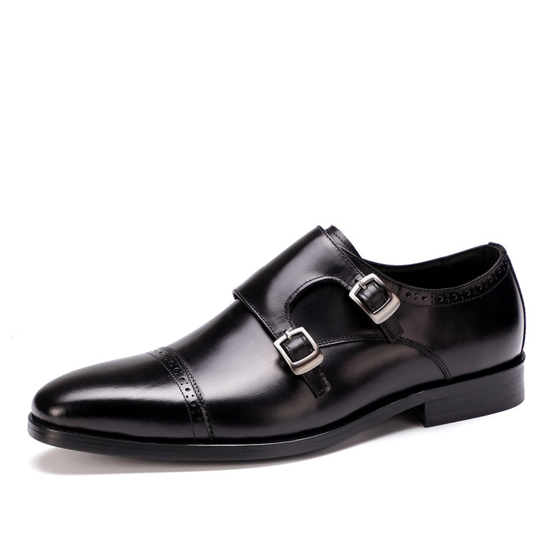 Derby QYFCIOUFU Couro Genuíno Sapatos de Festa