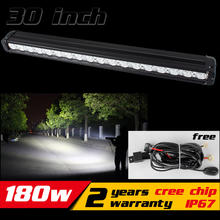 30inch 180W LED Light Bar for SUV Tractor Truck ATV LED Offroad Light Bar 4X4 LED Bar Offroad Drive Light Save on 240W 288w(China)