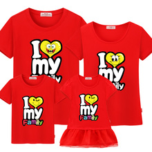 hot deal buy feja barnd family matching outfits for father mother & kids/8 colors/100%cotton/i love my family/free shippingquality assurance