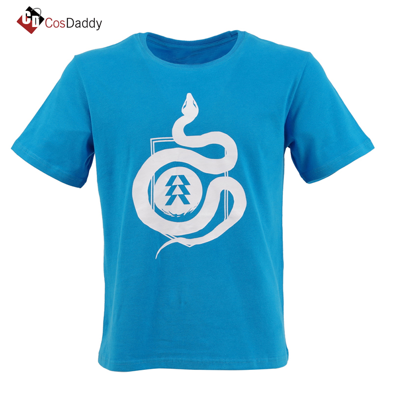 Destiny 2 Hunter T-shirt Spicy Ramen Shop Tees Cotton Short Sleeve Top Tee CosDaddy
