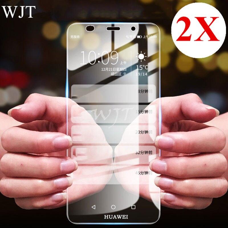 2PCS 9H Tempered Glass For Huawei Y3 Y5 2017 Y6 Ii Compact LYO-L01 CAM-L21/L03/L23 4C Y635 Y6 Pro Y5 2018 Screen Protector Film
