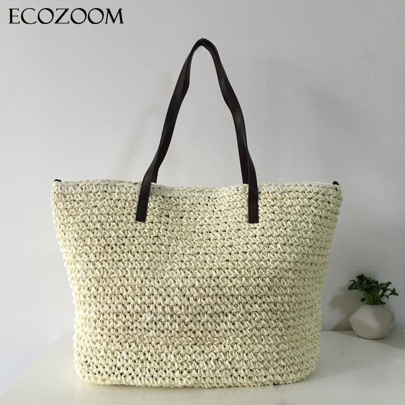 Online Buy Wholesale woven straw beach tote from China woven straw ...
