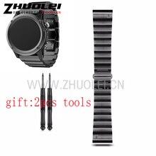 Классический Металлический браслет Из Нержавеющей Стали Четыре Цвета 26 мм Ширина для Garmin ремни Группа, металлическая Лента для Garmin Fenix 3 GMFNX3BBMB