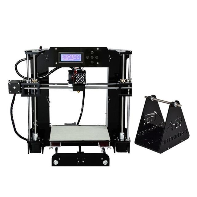 High Precision Automatic Leveling DIY 3D Printer Acrylic Lead Screw Frame Large Print Size 220*220*250mm EU Plug 3