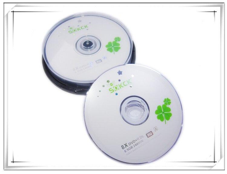 Wholesale DVD+R 8.5GB Dual Layer D9 8X 240min 10pcs/lot Free Shipping