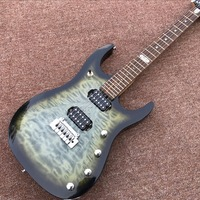 Custom Hohner Madcat Vintage Rare Electric Guitar Flame Maple Top black Finish Nicer