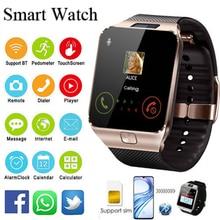 Relogio inteligente 2018 Bluetooth Смарт часы Для мужчин интеллектуальный цифровой спортивные Smartwatch DZ09 шагомер для Android-смартфон