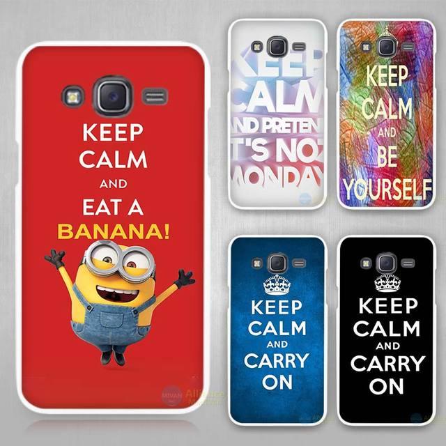 Keep Calm Hard White Case Cover For Samsung Galaxy J1 J2 J3 J5 J7 C5 C7