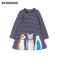 Princess Dress Long Sleeve 2017 Brand Spring Autumn Baby Girls Dress With Kids Tunic Jersey Dresses