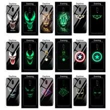 Venom Avengers Luminous Glass Case For Oneplus