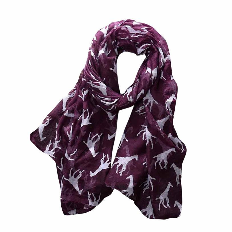 Fashion Women Ladies Giraffe Print Pattern Long   Scarf   Warm   Wrap   Shawl Winter Warm Spring Dec 5 6.28