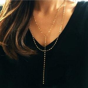 Image 1 - LouLeur 925 sterling silver pig naso doppio collana in oro città della moda del progettista della collana della catena per le donne 2018 festival dei monili di