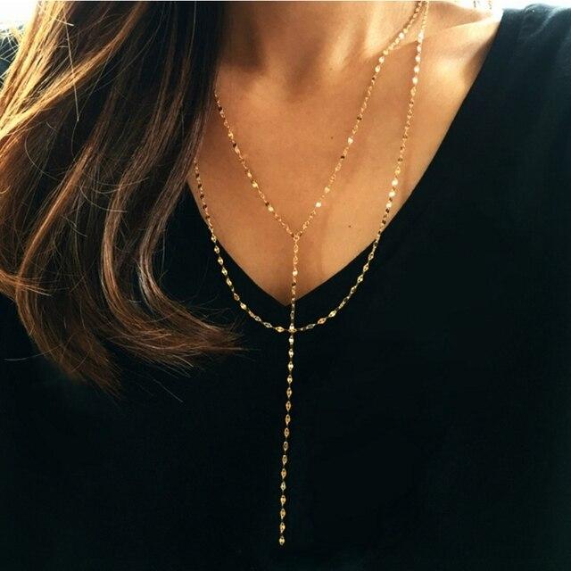 LouLeur 925 sterling silver pig naso doppio collana in oro città della moda del progettista della collana della catena per le donne 2018 festival dei monili di