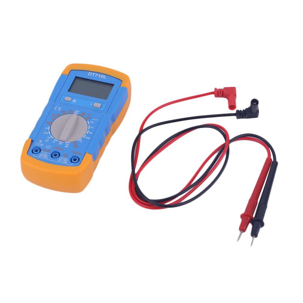 DT710L Small Digital Multimeter with Backlight /Battery Test/Diode ...
