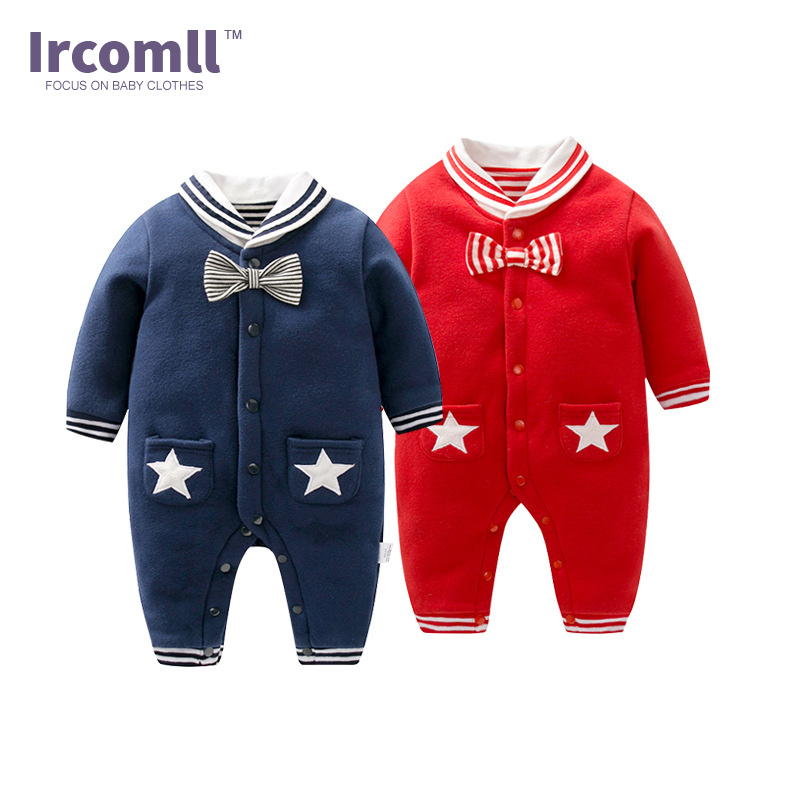 New Year 2018 Girl Boys Baby Rompers Cotton Double Decker Autumn Jumpsuit For Newborn Baby Toddle Clothes Kids Clothing outfit new 2017 brand quality 100% cotton newborn baby boys clothing ropa bebe creepers jumpsuit short sleeve rompers baby boys clothes