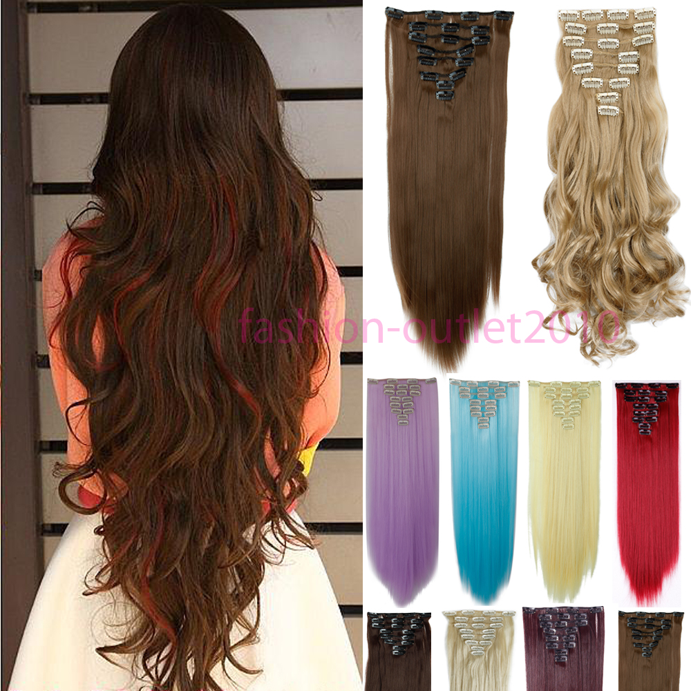 Long And Thick Clip In Hair Extensions