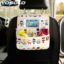 YOSOLO Car Back Seat Organizer Cartoon Universal for Phone Ipad Car-styling Stowing Tidying kid Interior Accessories Storage Bag