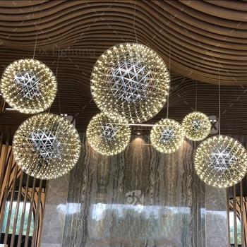 DX современная люстра для ресторана лобби светодиодная люстра освещение для гостиной шар, модель НЛО 110В, 220В огнеупорная Подвесная лампа