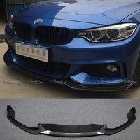 E Стиль автомобиля Стиль углеродного волокна Гонки передний сплиттер для губ для BMW 4 серии F32 M Спорт бампер 2014UP автомобиля аксессуары Тюнинг