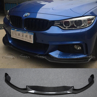 E Style Car Style Carbon Fiber Racing Front Lip Splitter for BMW 4 Series F32 M Sport Bumper 2014UP car accessories car styling
