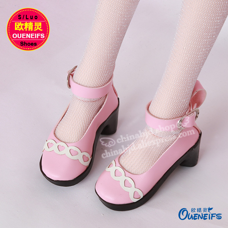 OUENEIFS free shipping Fashion Princess shoes Hight heeled shoes for bjd sd doll WX3-11 2 color choose 1pair new fashion sd bjd doll accessories casual shoes for bjd doll 1 4 1 3
