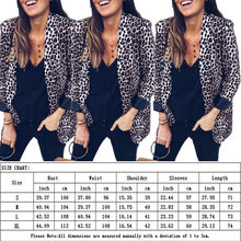 Office Lady Leopard Suit with Pockets